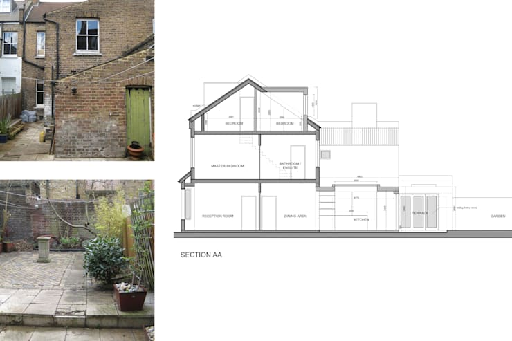 Architect designed rear house extension Herne Hill SE24 Lambeth – Design section:   by GOAStudio | London residential architecture