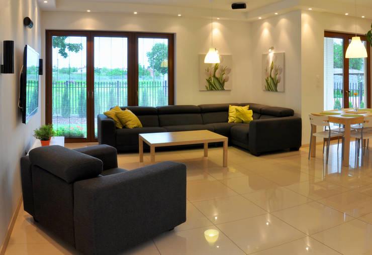 modern Living room by Biuro Projektów MTM Styl - domywstylu.pl