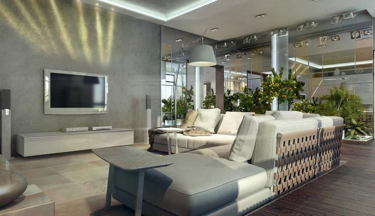 Дом в п. Архангельский : Гостиная в . Автор – Kakoyan Design