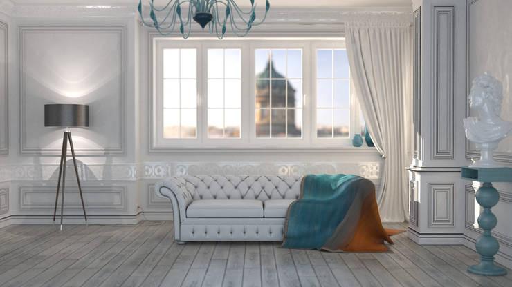 Квартира в стиле Неоклассика: Гостиная в . Автор – Kakoyan Design