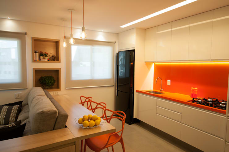 Apartamento Lago Norte: Salas de jantar  por Carpaneda & Nasr