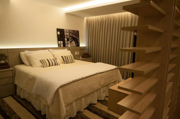 Apartamento Lago Norte: Quartos  por Carpaneda & Nasr