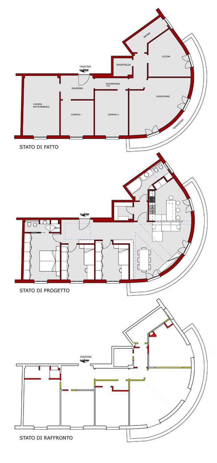 Рабочие кабинеты в . Автор – Andrea Orioli, Модерн