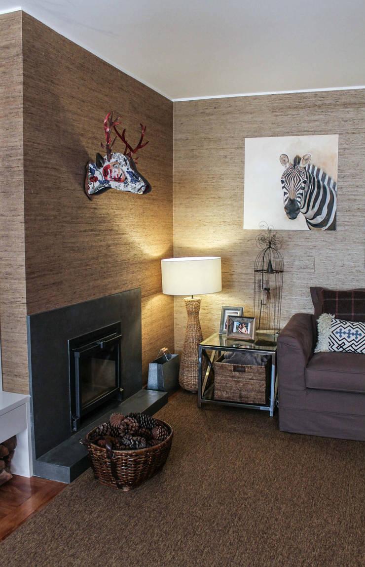 Casa particular: Salas de estar  por Gavetão- Decoração de Interiores