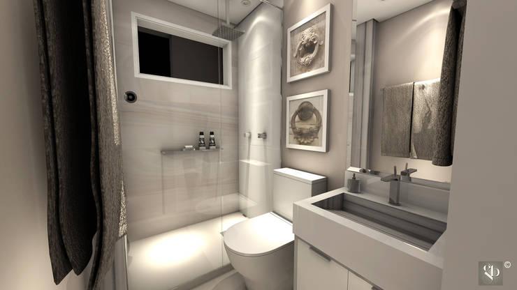 Banho: Banheiros  por Gustavo Bodini | Designer de Interiores,Moderno