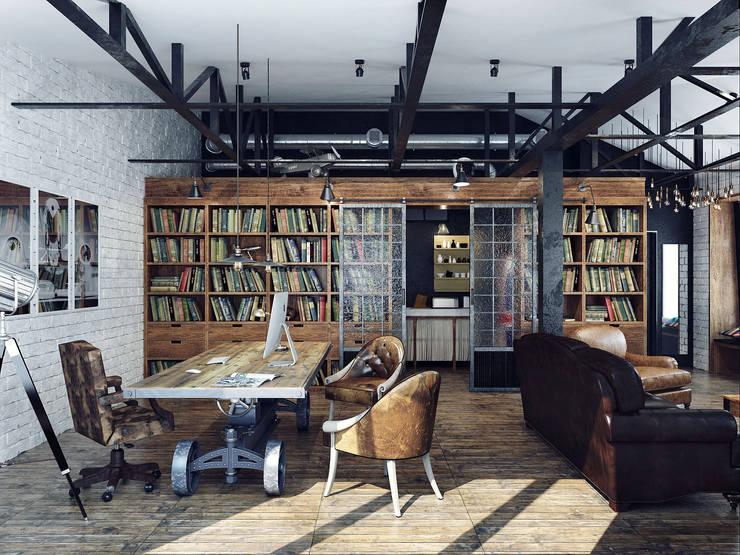 Edificios de Oficinas de estilo  por Хороший план, Industrial