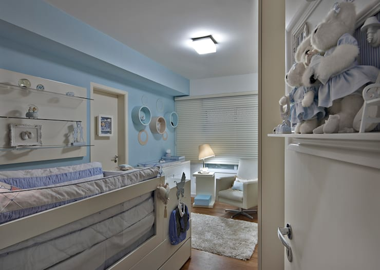 Apartamento A.P: Quarto infantil  por Bellini Arquitetura e Design,Moderno