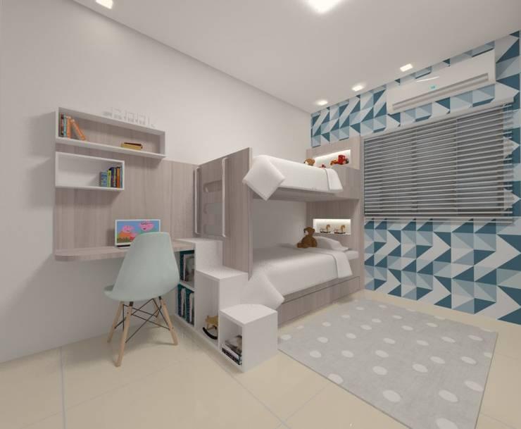 Dormitório Meninos: Quarto infantil  por Karoline Gesser Leal Interiores