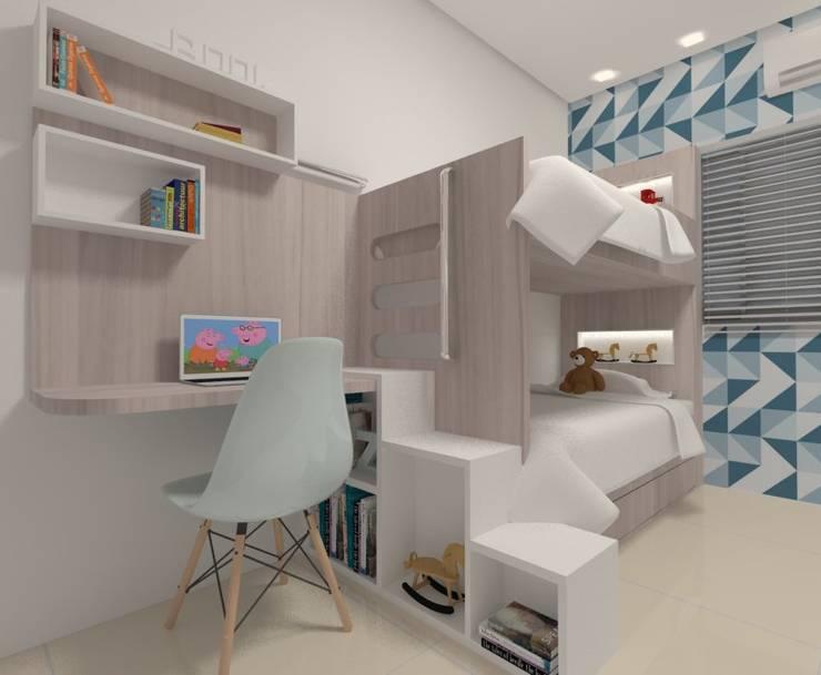 Dormitório Meninos: Quartos  por Karoline Gesser Leal Interiores
