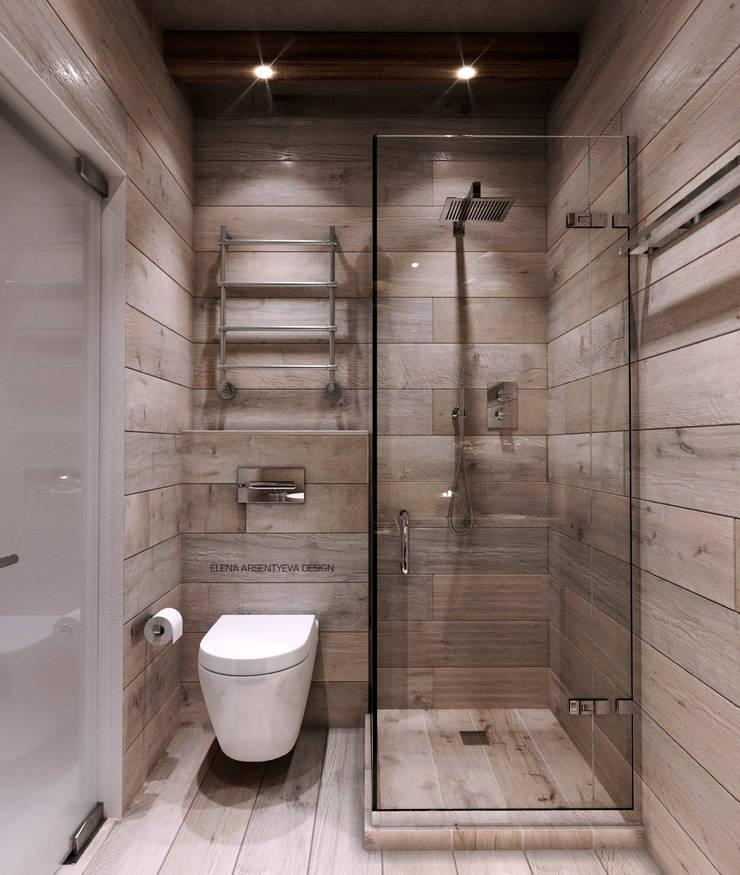 Немного Скандинавии...немного шале...: Ванные комнаты в . Автор – Elena Arsentyeva