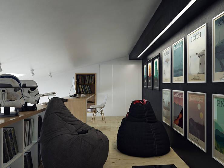 Скандинавский стиль: Рабочие кабинеты в . Автор – Хороший план