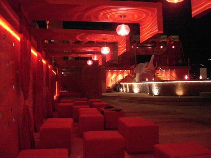 bar en acapulco: Casas de estilo  por bello diseño!