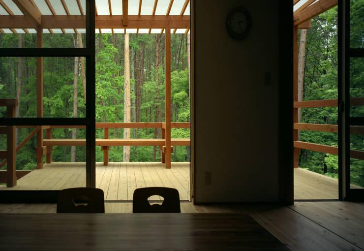 自然体で暮らすvol.2 カントリーデザインの テラス の スタジオ・ベルナ カントリー 木 木目調