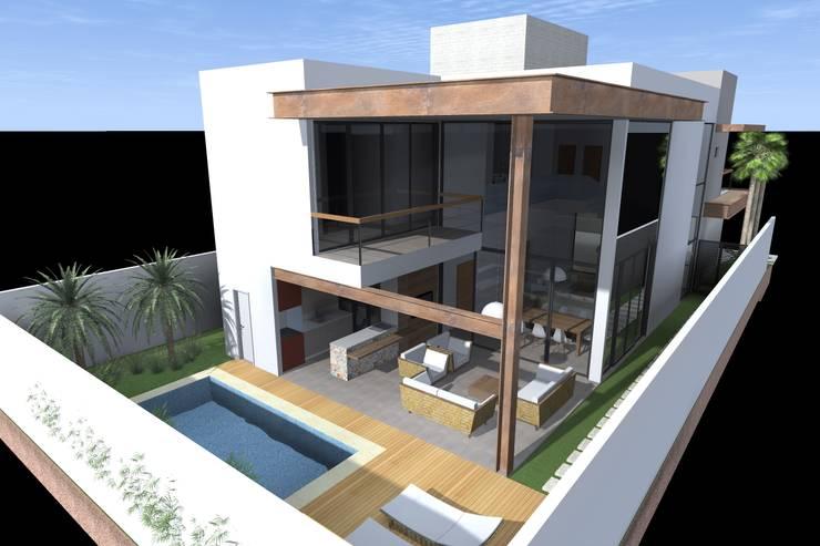 Residência M.O por Ágape Arquitetos Associados Moderno