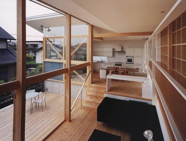 新千里南町: 伊東建築計画室が手掛けたテラス・ベランダです。,