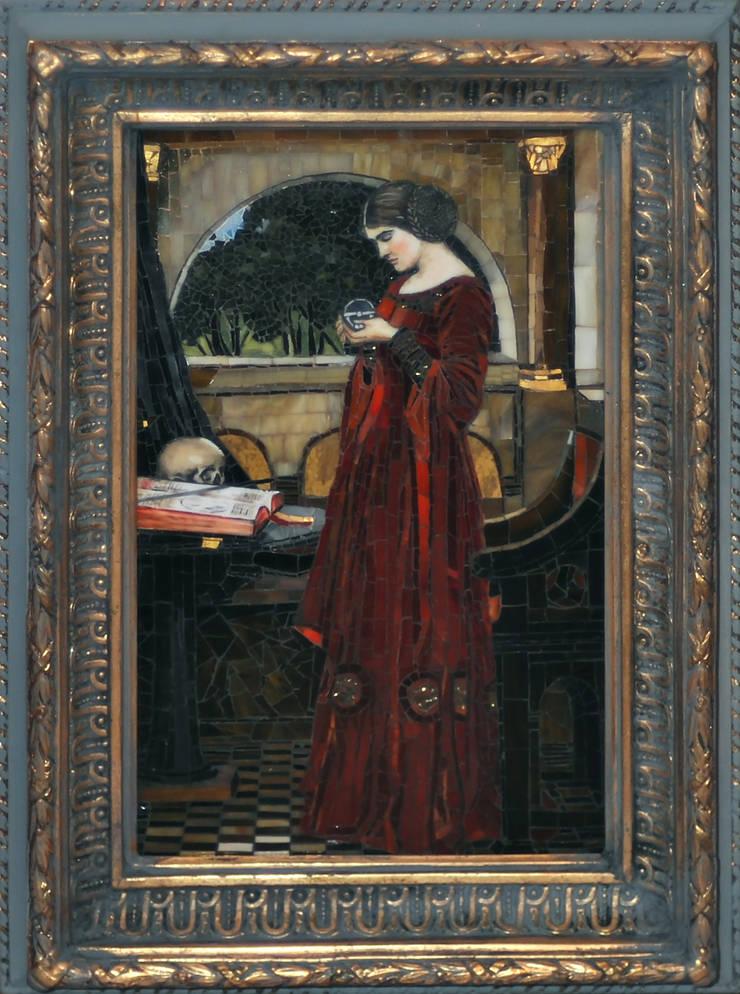 John William Waterhouse, mikromozaika, interpretacja: styl , w kategorii  zaprojektowany przez Pracownia Mozaiki M,Klasyczny Szkło