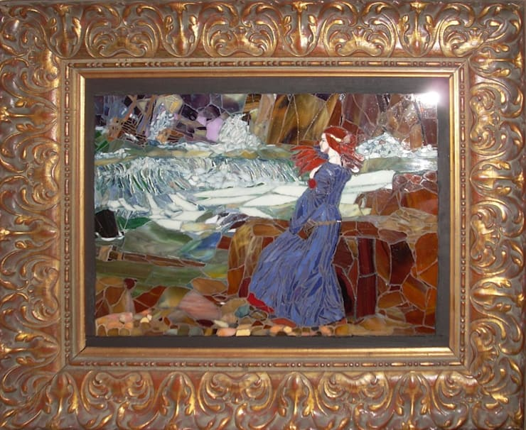 John William Waterhouse, mikromozaika, interpretacja: styl , w kategorii Sztuka zaprojektowany przez Pracownia Mozaiki M
