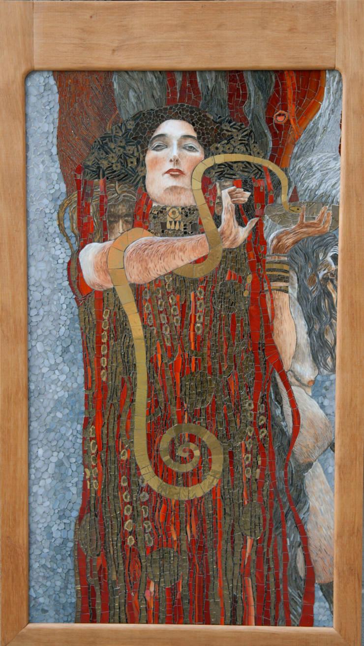 """Gustaw Klimt """"Medycyna"""", interpretacja: styl , w kategorii Sztuka zaprojektowany przez Pracownia Mozaiki M"""