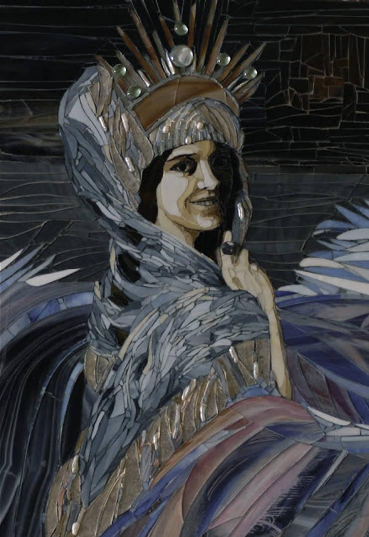 Portret z mozaiki: styl , w kategorii  zaprojektowany przez Pracownia Mozaiki M,Klasyczny Szkło