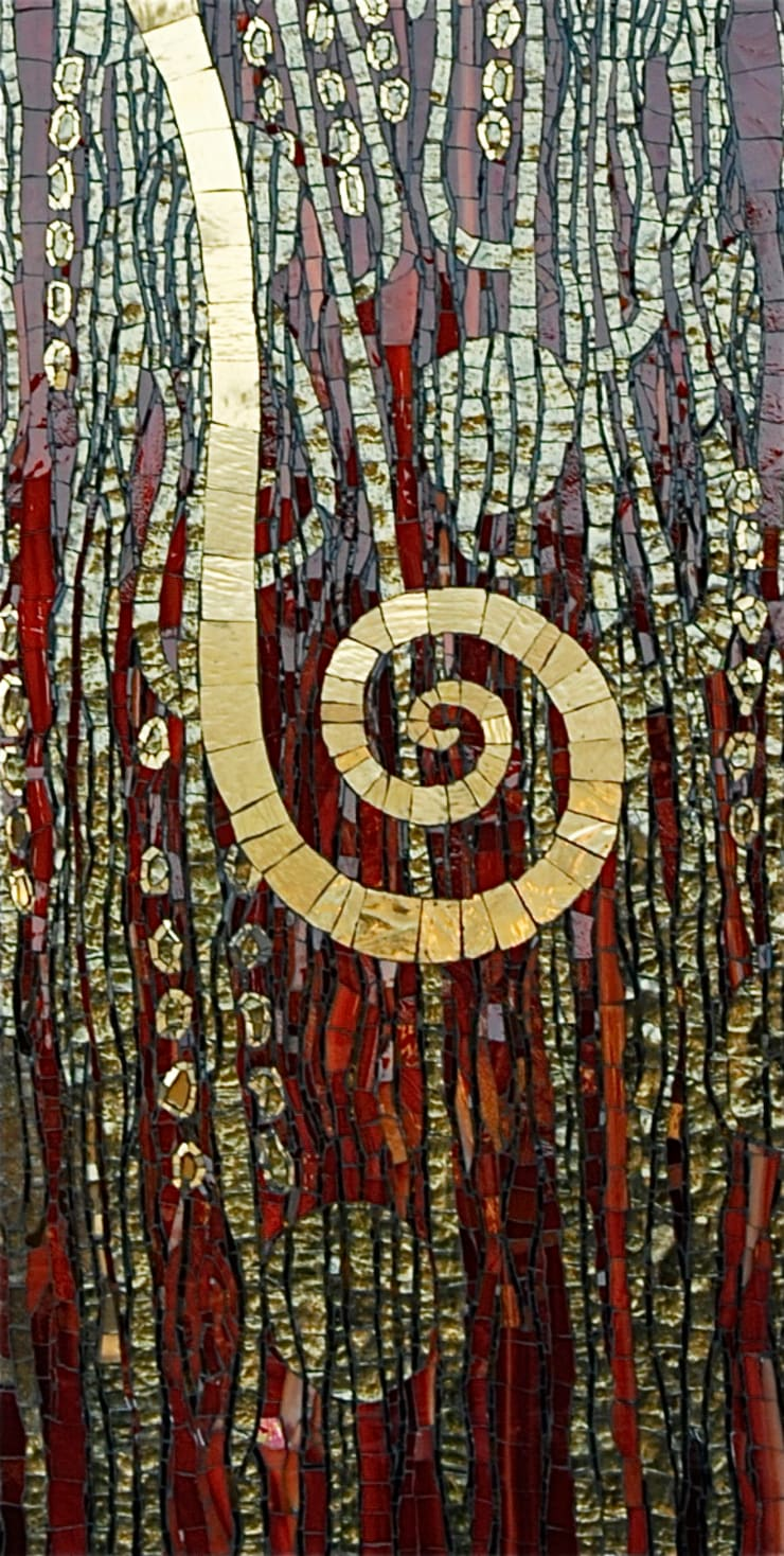 Detale z mozaiki: styl , w kategorii  zaprojektowany przez Pracownia Mozaiki M,Klasyczny Szkło