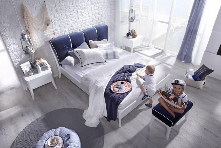 Sypialnia Dream marina: styl , w kategorii  zaprojektowany przez Swarzędz Home ,Śródziemnomorski