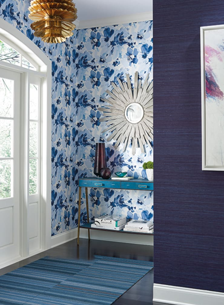 Aquarella: Paredes de estilo  por Diseño Interior  & Papel Tapiz