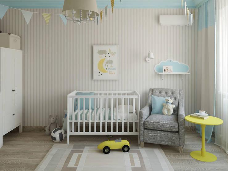 Яркая квартира: Детские комнаты в . Автор – Olesya Parkhomenko, Эклектичный