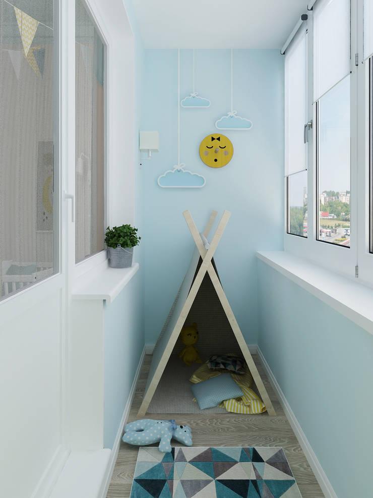 Детский балкон: Tерраса в . Автор – Olesya Parkhomenko, Эклектичный