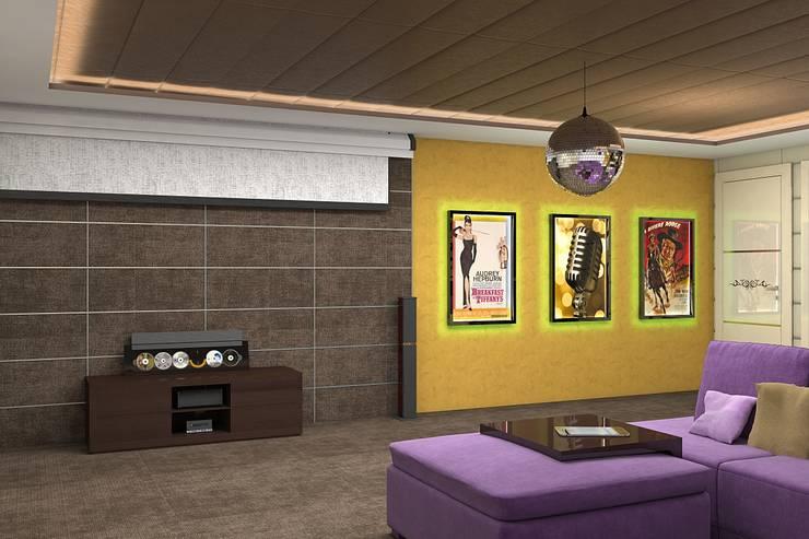 Дизайн дома 400м.кв: Гостиная в . Автор – Дизайн студия Жанны Ращупкиной