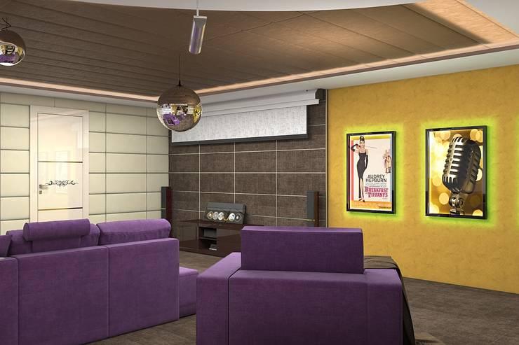Дизайн дома 400м.кв: Гостиная в . Автор – Дизайн студия Жанны Ращупкиной,