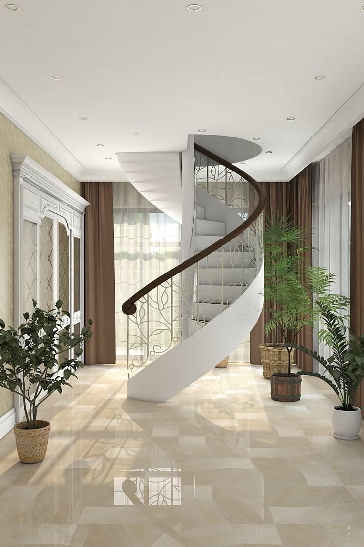 Дизайн дома 400м.кв: Коридор и прихожая в . Автор – Дизайн студия Жанны Ращупкиной,