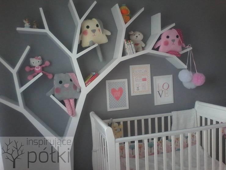 Półka jak drzewo 210x210x18cm: styl , w kategorii Pokój dziecięcy zaprojektowany przez INSPIRUJĄCE PÓŁKI