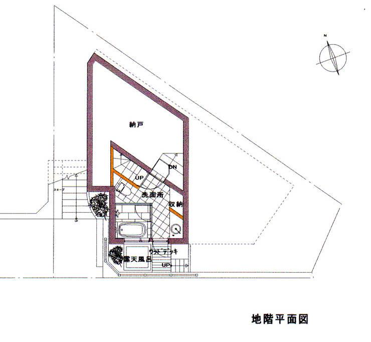 B1F PLAN: 豊田空間デザイン室 一級建築士事務所が手掛けたです。