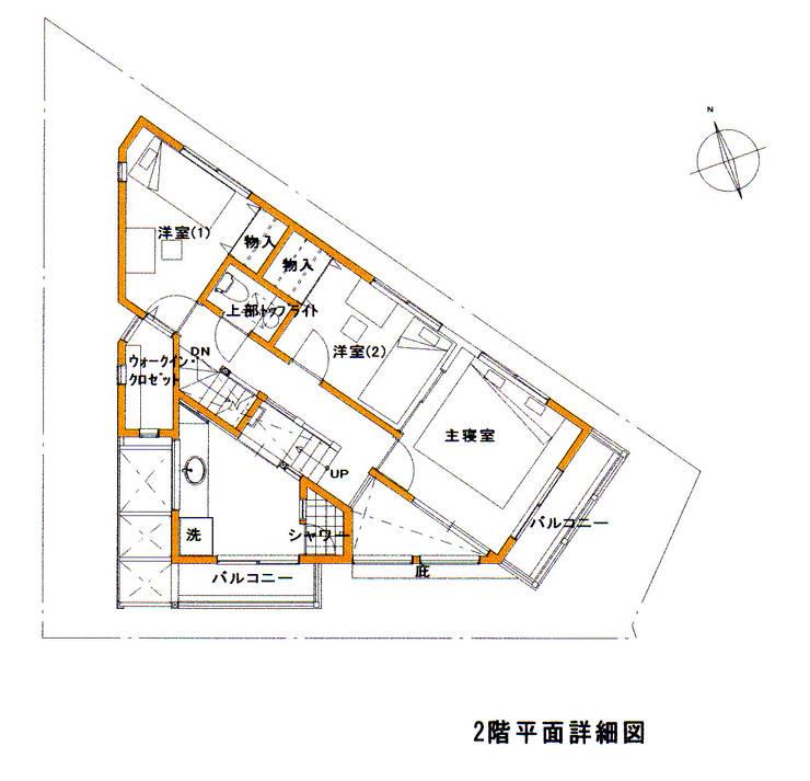 2F PLAN: 豊田空間デザイン室 一級建築士事務所が手掛けたです。