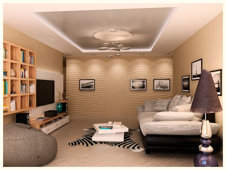 квартира для молодой семьи: Гостиная в . Автор – AG design