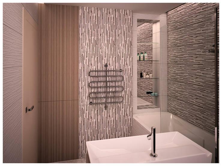 квартира для молодой семьи: Ванные комнаты в . Автор – AG design