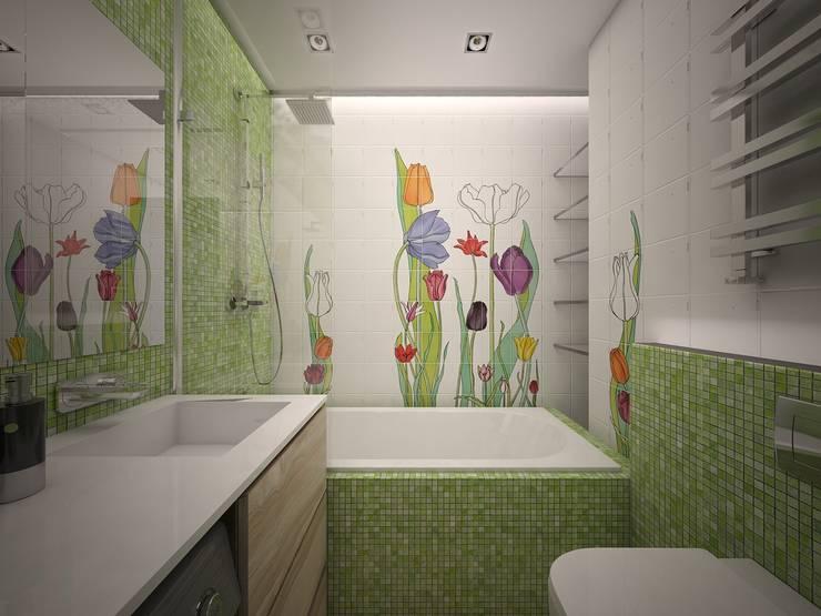 квартира в ЖК Garden Park Эдальго: Ванные комнаты в . Автор – AG design
