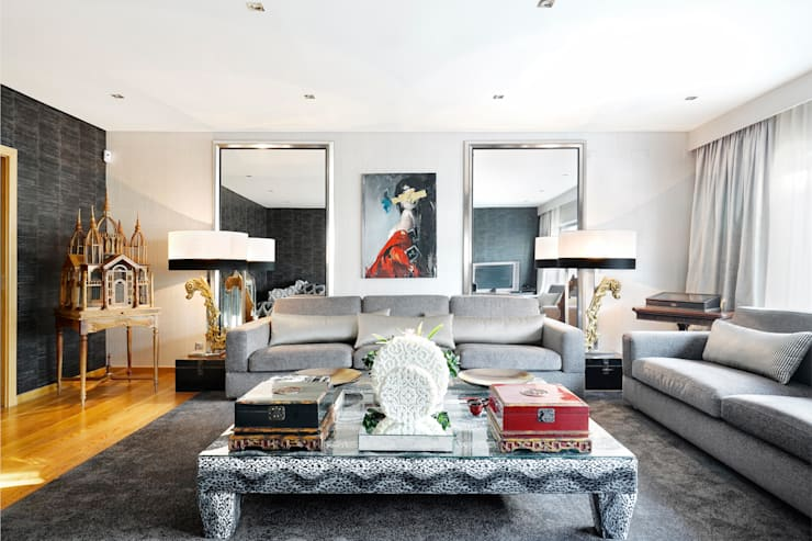 Sala de estar/Sitting Room: Salas de estar modernas por 3L, Arquitectura e Remodelação de Interiores, Lda