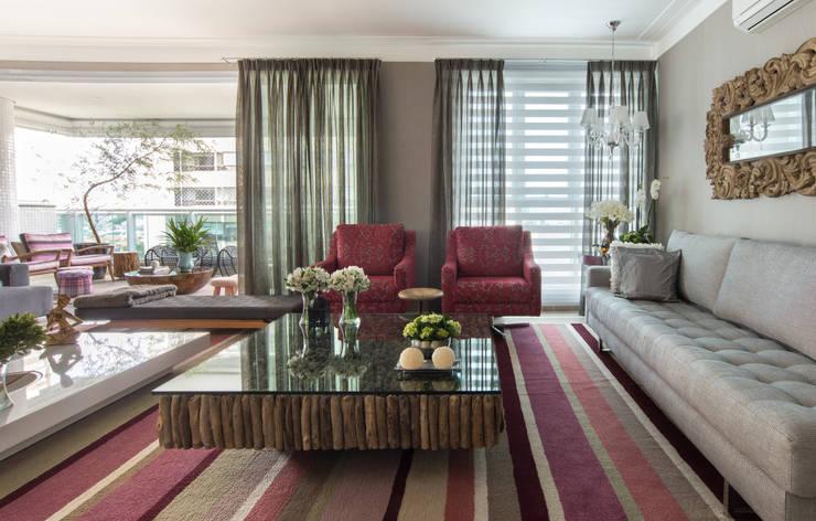 Apartamento  Living: Salas de estar  por Orlane Santos Arquitetura,Moderno