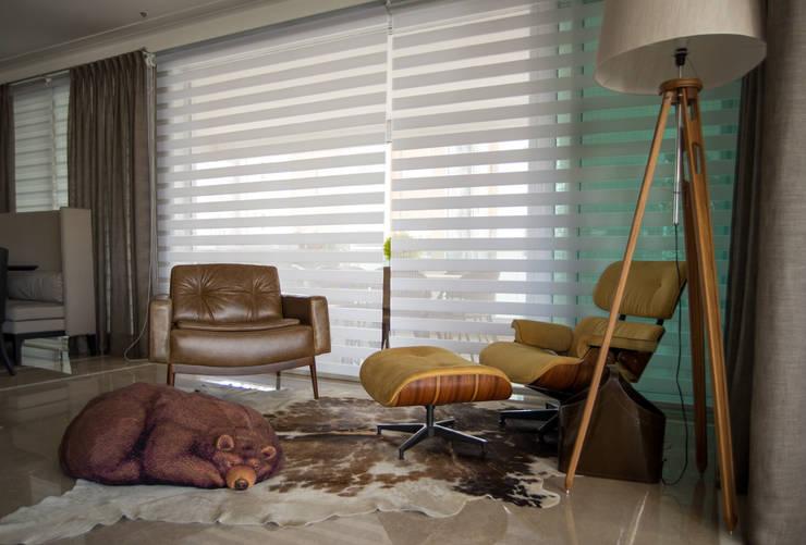 Apartamento - Canto da leitura: Salas de estar  por Orlane Santos Arquitetura,Moderno