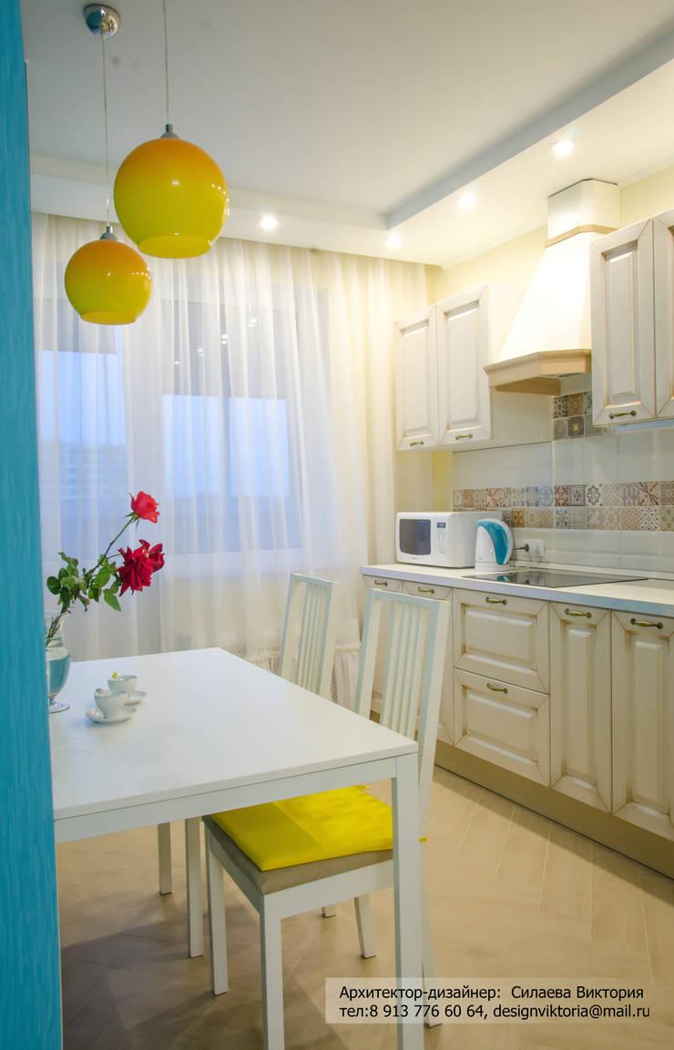 Реализация. Квартира 45 кв.м. на Романова: Кухни в . Автор – Студия дизайна Виктории Силаевой