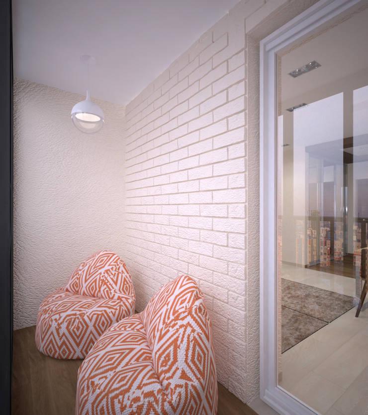 Квартира 55 кв.м. в ЖК <q>Европейский берег</q>: Tерраса в . Автор – Студия дизайна Виктории Силаевой