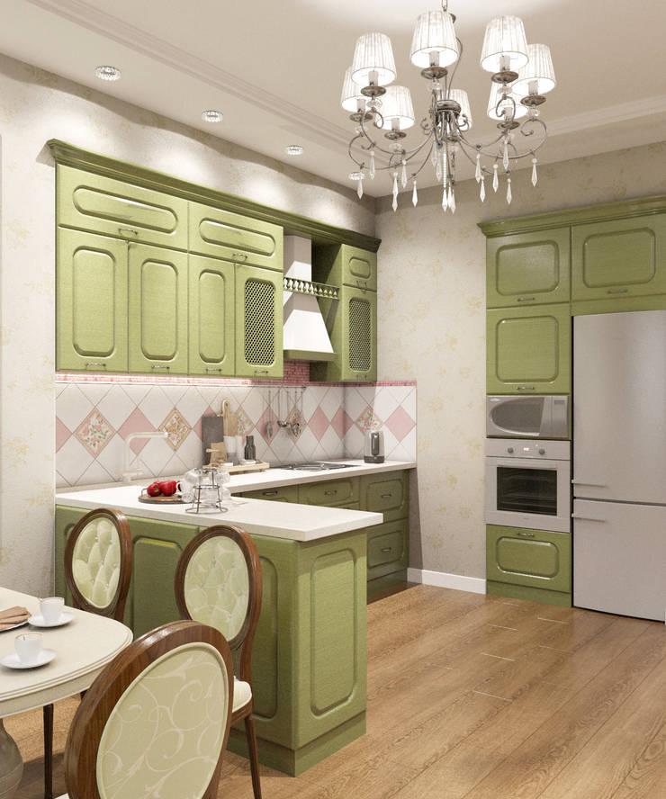 Квартира 55 кв.м. на Дзержинского : Кухни в . Автор – Студия дизайна Виктории Силаевой