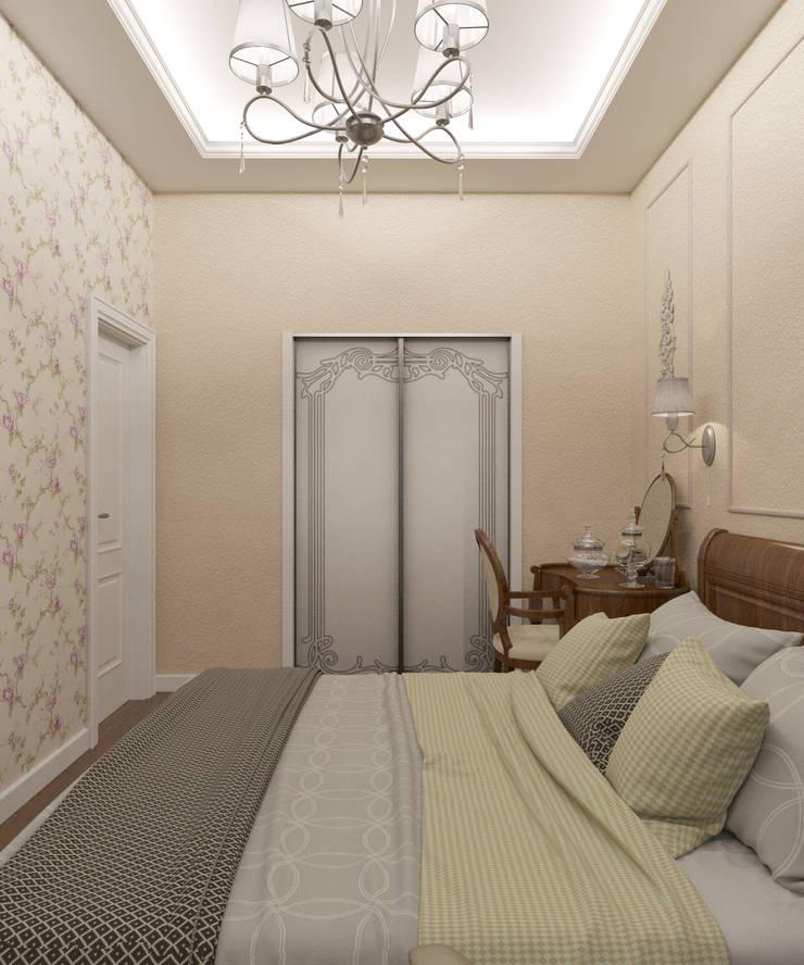 Квартира 55 кв.м. на Дзержинского : Спальни в . Автор – Студия дизайна Виктории Силаевой