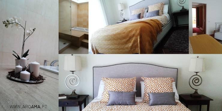 Dormitorios de estilo rural de ARQAMA - Arquitetura e Design Lda Rural