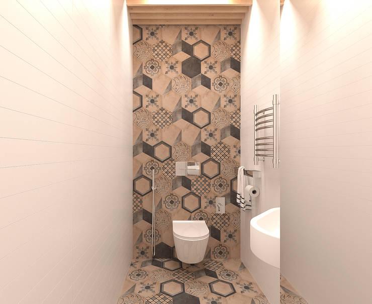 Квартира для молодой семейной пары: Ванные комнаты в . Автор – ECOForma,