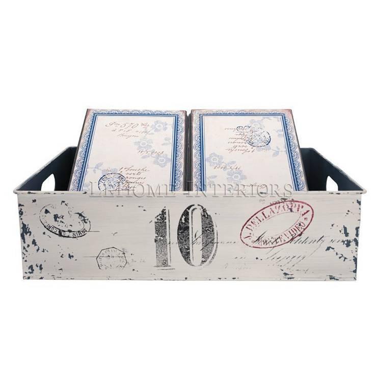 Поднос с двумя коробками GreenGate Fay White G028: Гостиная в . Автор – LeHome Interiors