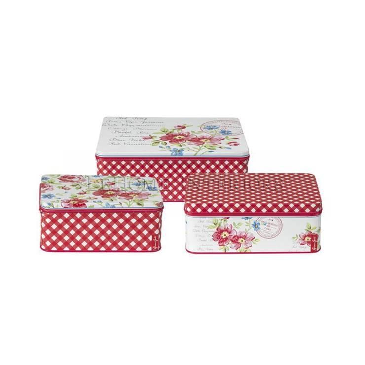 Коробка (набор из 3 шт) GreenGate Pernilla White G066: Гостиная в . Автор – LeHome Interiors