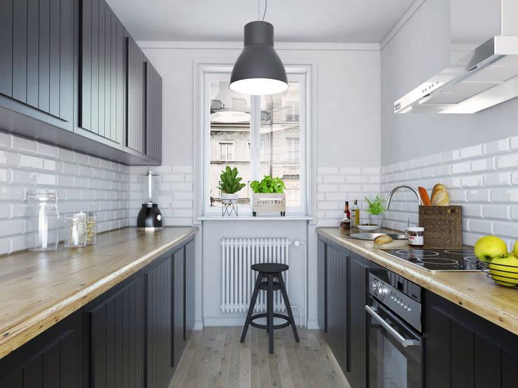Kuchnia w stylu retro: styl , w kategorii Kuchnia zaprojektowany przez FOORMA Pracownia Architektury Wnętrz