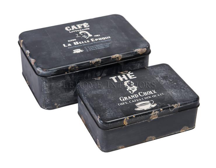 Набор декоративных коробочек Marcus (из 2-х штук) V941: Кухня в . Автор – LeHome Interiors